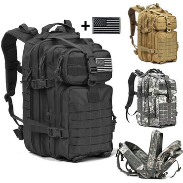 40L Military Tactical Assault Pack Backpack Army Molle Waterproof Bug Out Bag Small Rucksack for Outdoor Hiking Camping Hunting