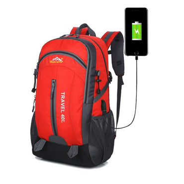 40L Waterproof Backpack Hiking Bag Cycling Climbing Backpack Travel Outdoor Bags Men Women USB Charge Anti Theft Sports Bag