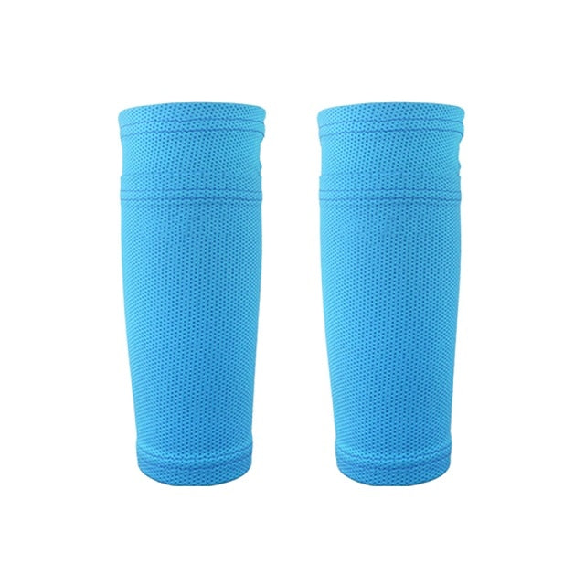 38f1b853d8a37 1 Pair Soccer Protective Socks Shin Guard With Pocket For Football Shin  Pads Leg Sleeves Supporting