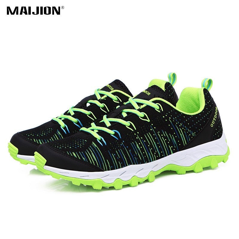 MAIJION Cool Light Running Shoes Men Women Breathable Non-slip Damping Sneakers Outdoor Sports Trekking Lace-up Shoes Sneakers