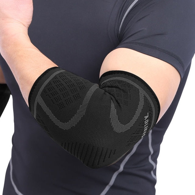 AOLIKES 1PCS Elbow Support Elastic Gym Sport Elbow Protective Pad Absorb Sweat Sport Basketball Arm Sleeve Elbow Brace