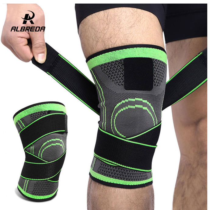 ALBREDA 1PCS Outdoor Knee Support Professional Protective Sport Knee Pad Breathable Bandage Knee Brace Basketball Tennis Cycling