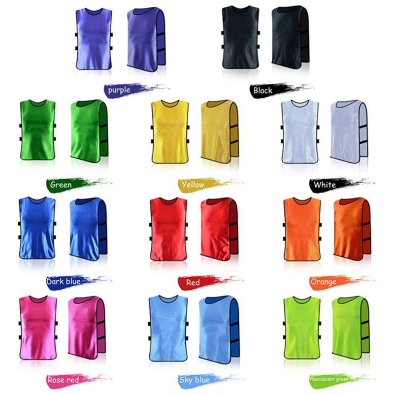 Vibrant Color Adult Team Sports Football Soccer Training Pinnies Jerseys Quick-dry Breathable Training Bib Vest