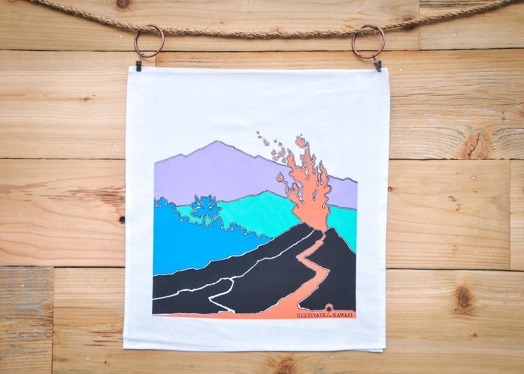 Cultivate Hawai'i Pele Tea Towel