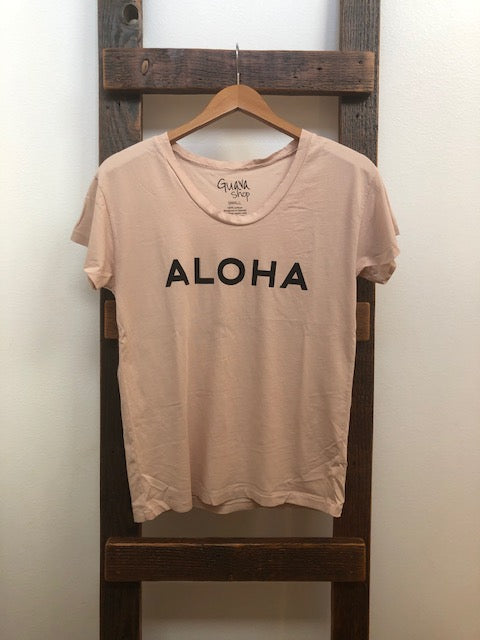 guava shop original aloha tee in almond