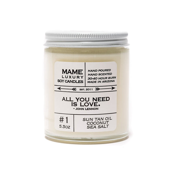 MAME Sun Tan Oil Coconut Sea Salt Salt Candle
