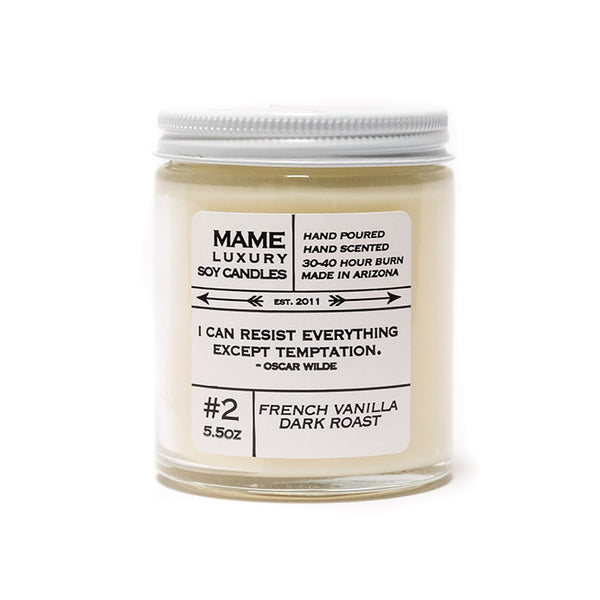 Mame French Vanilla Dark Roast Candle