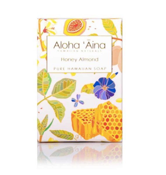 Aloha Aina Hawaiian Aromatherapy Pure Soap – Honey Almond