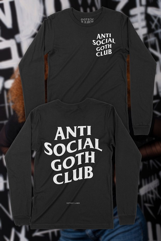 Anti Social Goth Club Long Sleeve Tee