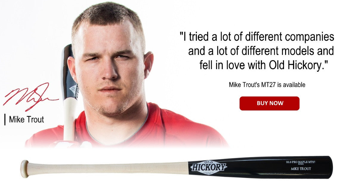 Mike Trout MT27 Maple Bat from Old Hickory Bat Co.