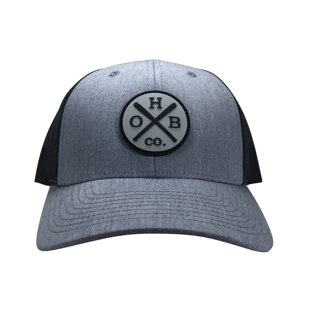OHBC Vintage Logo Trucker Cap - Heather Grey/Dark Charcoal