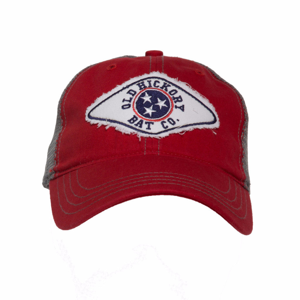 Red Tennessee Patch Adjustable Cap