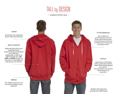 A Unique Size Chart For Tall And Extra Tall Mens Clothing For Men 6