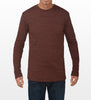 Sienna Brown Long-Sleeve T-shirt, model is 6-4 and wearing size Tall-Large.