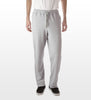 Athletic grey cotton/poly fleece sweatpants, model is 6-8 and wearing size XTall-Large.