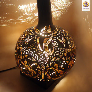 Gourd Lamp, Best birthday gifts 2019, gifts for her, valentine's day gift, Handmade, Hnadicrafts, Home decor, Stylish gifts, unique gifts, koyaka craft