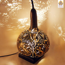 Load image into Gallery viewer, Gourd Lamp, Best birthday gifts 2019, gifts for her, valentine's day gift, Handmade, Hnadicrafts, Home decor, Stylish gifts, unique gifts, koyaka craft, lotus lamp, dalaj, lighting solutions