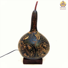 Load image into Gallery viewer, Gourd Lamp, Best birthday gifts 2019, gifts for her, valentine's day gift, Handmade, Hnadicrafts, Home decor, Stylish gifts, unique gifts, koyaka craft