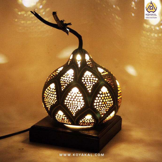 Gourd Lamp, Best birthday gifts 2019, gifts for her, valentine's day gift, Handmade, Hnadicrafts, Home decor, Stylish gifts, unique gifts, koyaka craft, lotus lamp, dalaj, lighting solutions