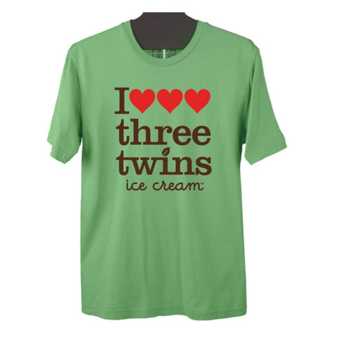 I Heart Three Twins Tee - Men's