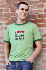 i heart three twins tee