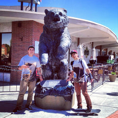 Alex and Eddie rocking their new Grizzly Tees!!