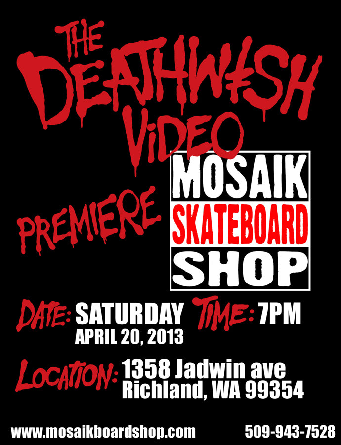 The Deathwish Video Flyer