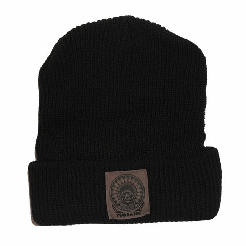 MOSAIK Chief Black/Grey Longshoreman Beanie