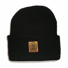MOSAIK Chief Black/Tan Longshoreman Beanie