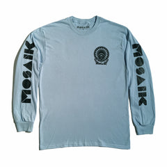MOSAIK Work Chief Light Blue/Black Long Sleeve T-Shirt Limited Edition - Small