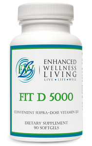 Fit D 5000 contains vitamin D3 (cholecalciferol) in convenient softgels. Vitamin D3 is the bioidentical form of vitamin D synthesized in the body from cholesterol, following activation by the UV rays in sunlight. This form is excellent for maintaining healthy levels of vitamin D in the body. Mounting evidence suggests roles for vitamin D not only in bone and dental health, but also in supporting immune, neurological, musculoskeletal, cellular, and cardiovascular health