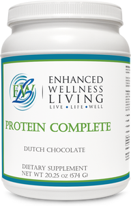 Protein Complete is a nutrient-rich shake mix ideal for everyone, including vegans, individuals sensitive or allergic to soy and/or dairy, or those seeking an alternative source of quality protein.  Protein Complete promotes healthy Body Composition, cardiovascular health, gastrointestinal health, and your body's antioxidant systems.  Available in both Dutch Chocolate. French Vanilla