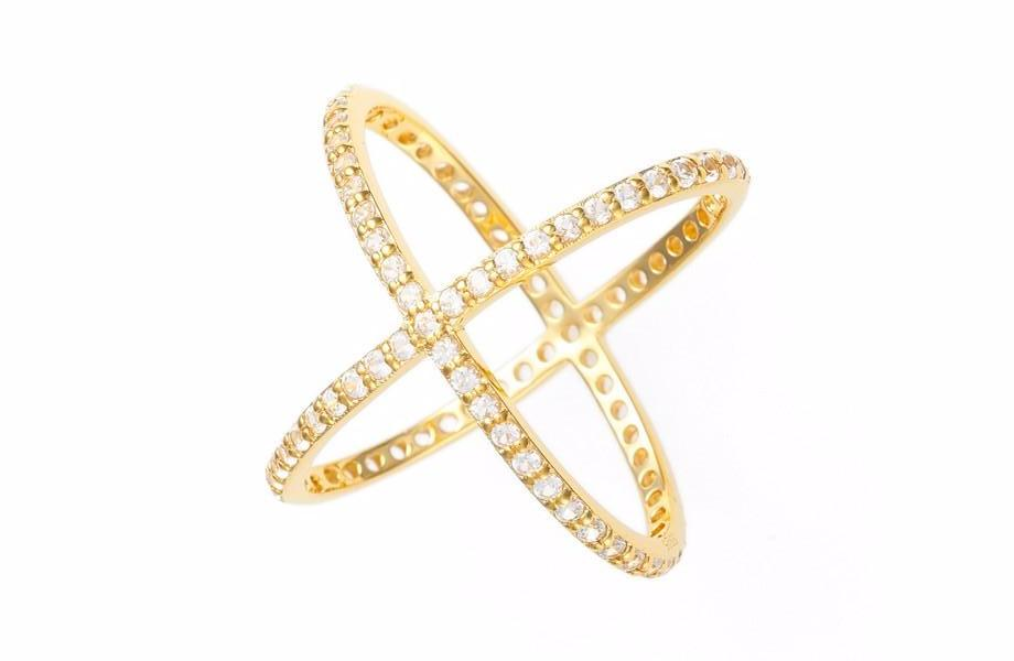 Criss Cross Ring - Yellow Gold