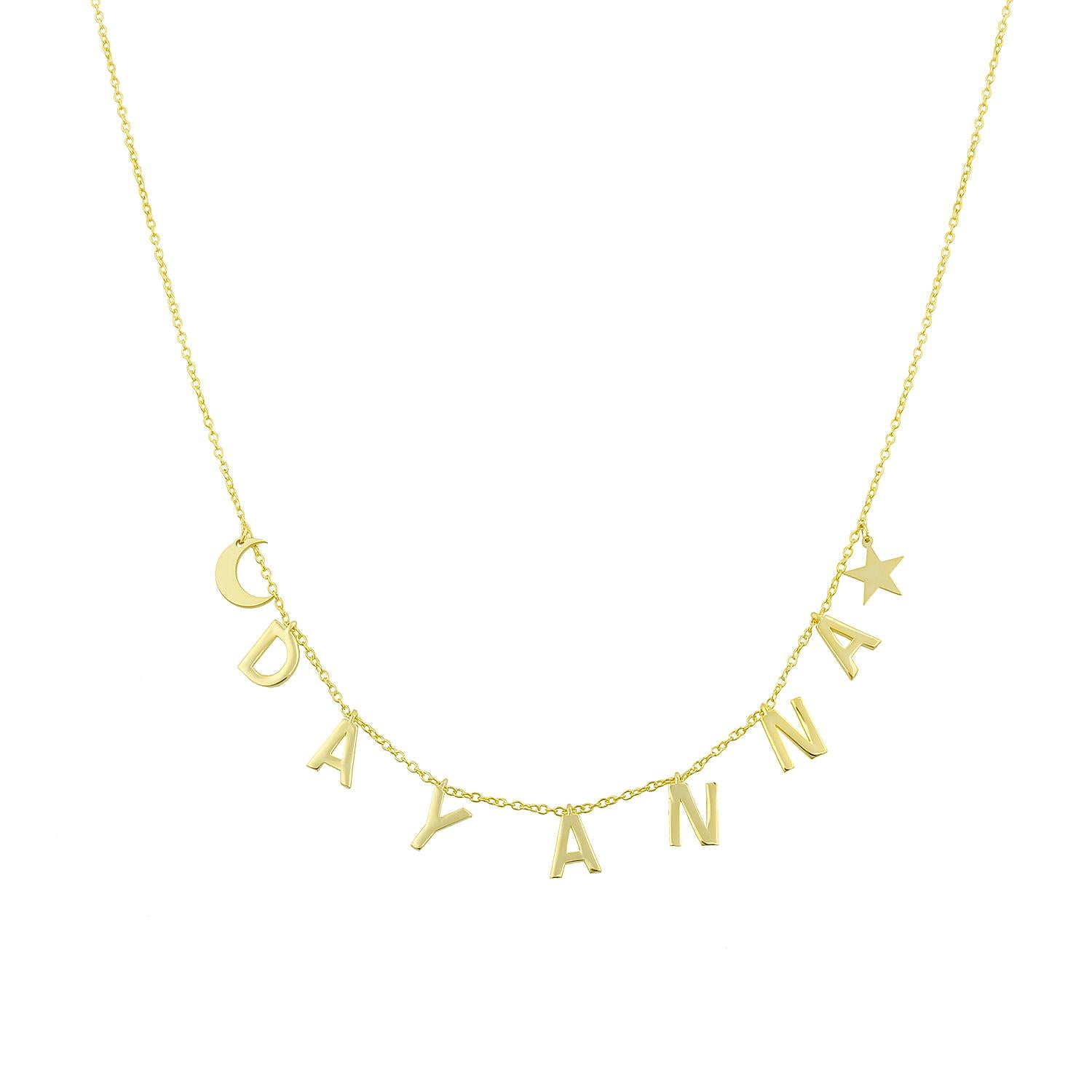 Celestial Dangling Name Necklace
