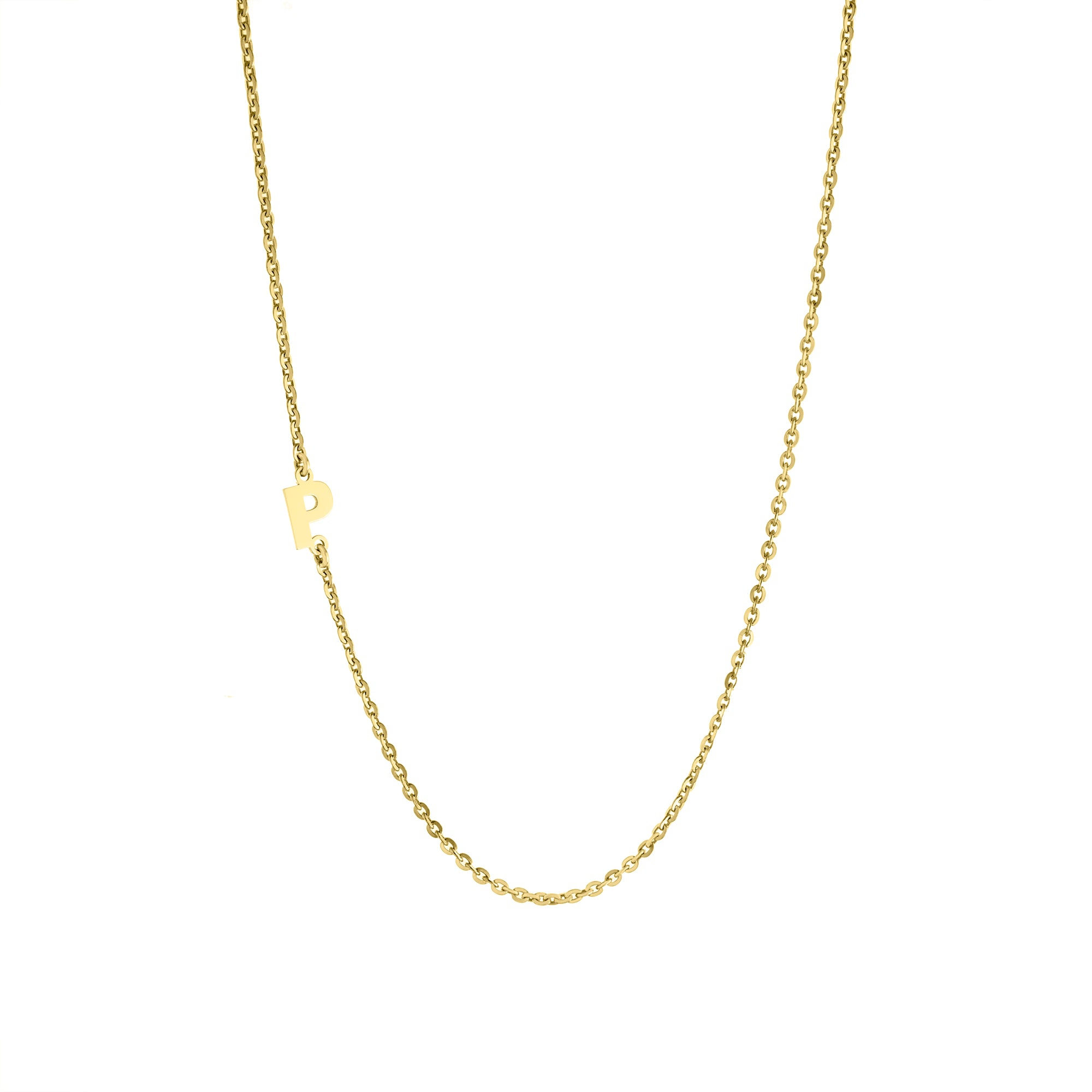 Smooth Asymmetrical Initial Necklace