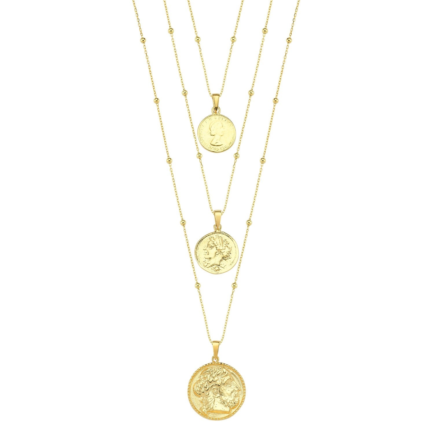 Gold Coin Layered Set