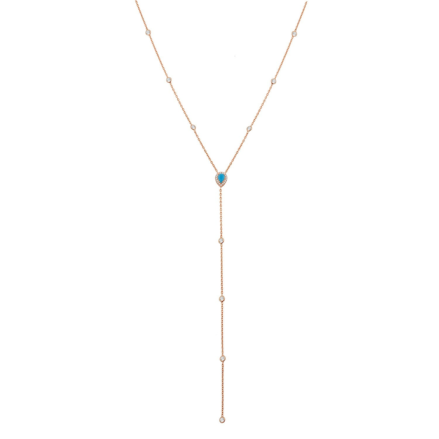 Amelia Rose Gold Lariat