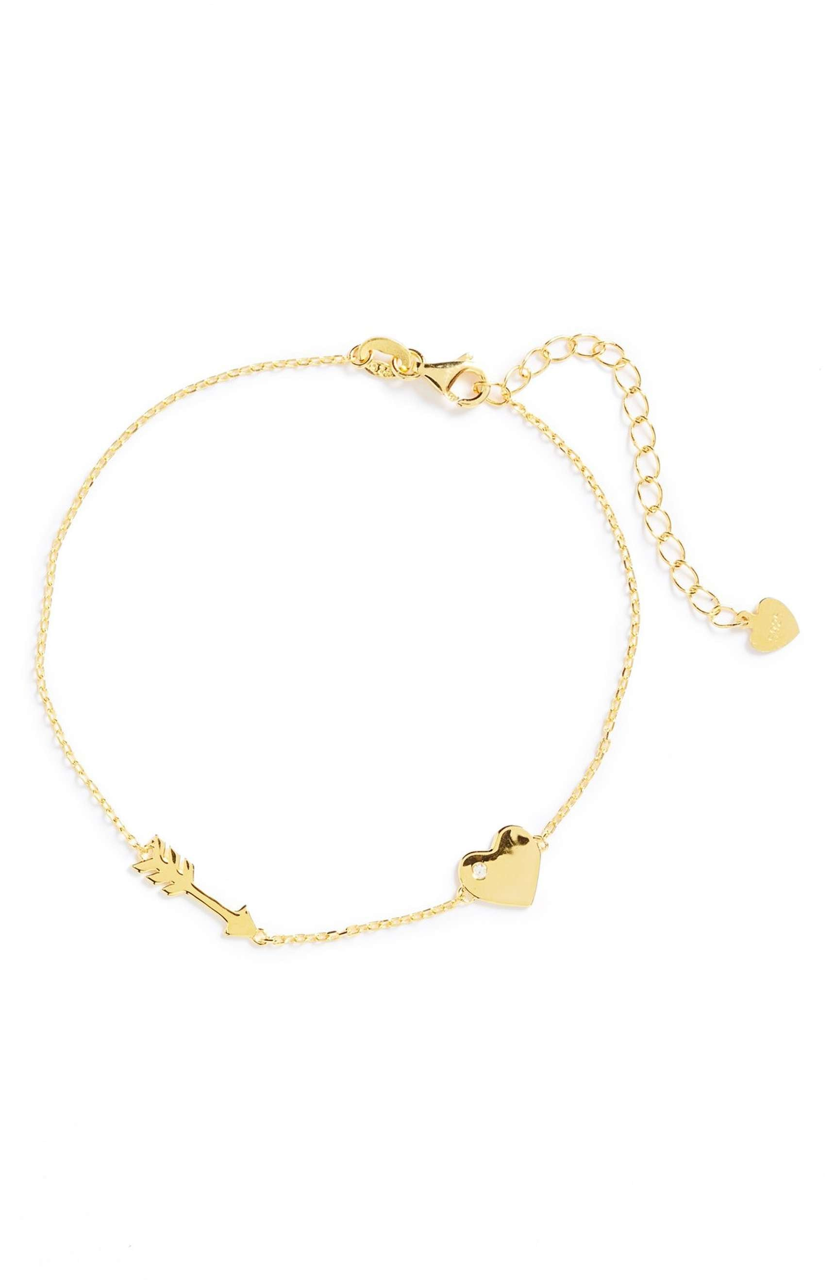Arrow Heart Bracelet