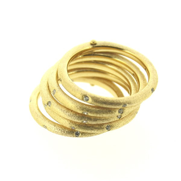 Gold CZ Stackable Ring
