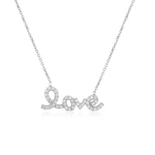 Script Love Necklace