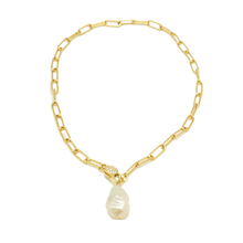 Pearl Link Clasp Choker