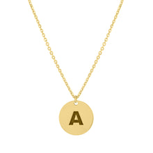 Engraved Initial Circle Necklace