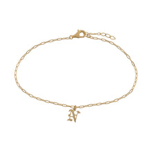 Gothic Initial Link Anklet