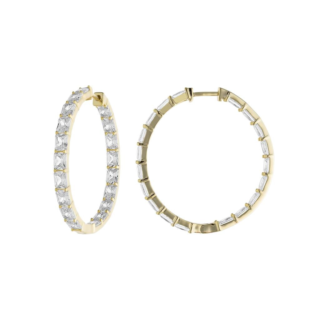 CZ Inside Out Hoops
