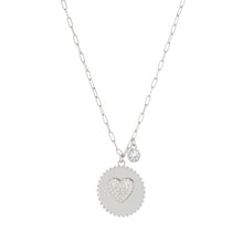 Heart Coin CZ Necklace