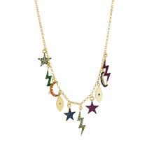 Multi Color Charm Necklace