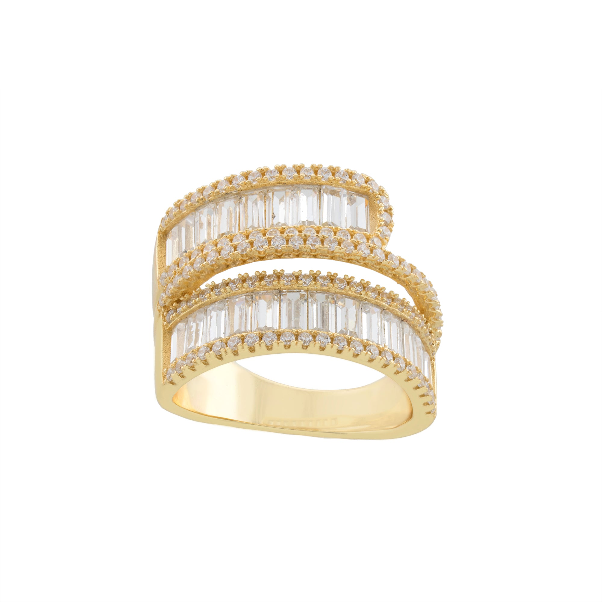 Baguette Twirl Ring