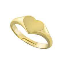 Adjustable Heart Signet Ring