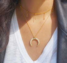 Pavé Horn Necklace