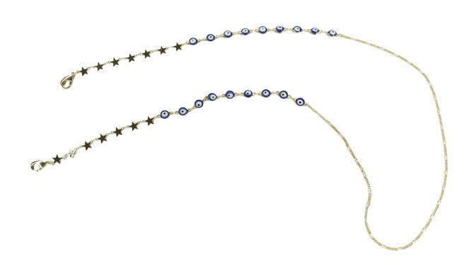Evil Eye Mask Star Chain